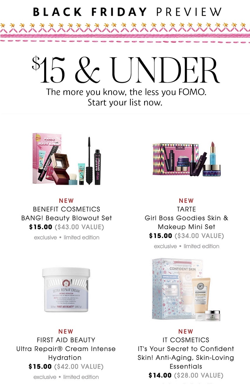 Sephora Black Friday 2019 Ad, Deals and Sales